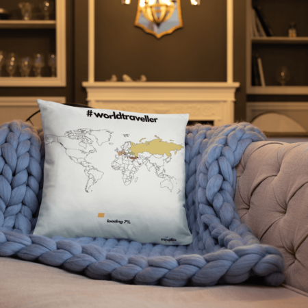 Visited Countries Kissen Travellaz travelshirts