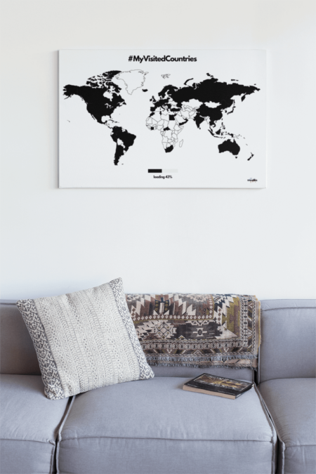 Visited Countries Leinwand Travellaz travelshirts
